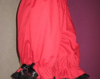 Sequoia Lolita Red Black lacy Sissy Long Bloomers