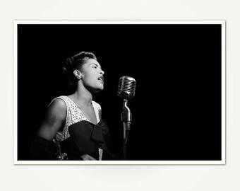 Billie Holiday Concert Photo Print - Billie Holiday New York City Concert - Portrait of Billie Holiday 1947