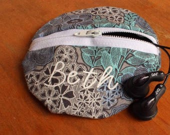 Personalized Earbuds Pouch