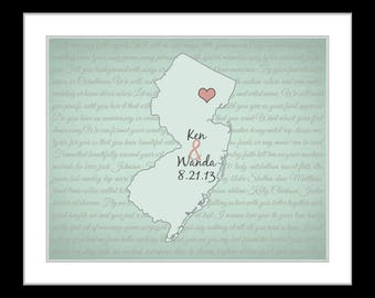 Wedding gift, couples song lyrics, valentines day gift, personalized him her gift, bridal shower gift, song lyric art, couple gift, Any map
