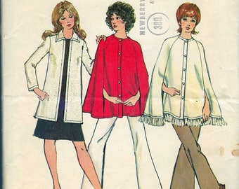 """Vintage 1972 Simplicity 9869 Retro Cap & Cardigan Sewing Pattern Size 16 Bust 38"""""""
