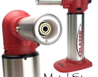 """Limited Edition RED Blazer """"Big Buddy"""" Turbo Flame Micro Refillable Butane Torch Jewelry Making Tool"""