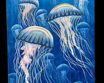 Jellyfish Art Mousepad for computers