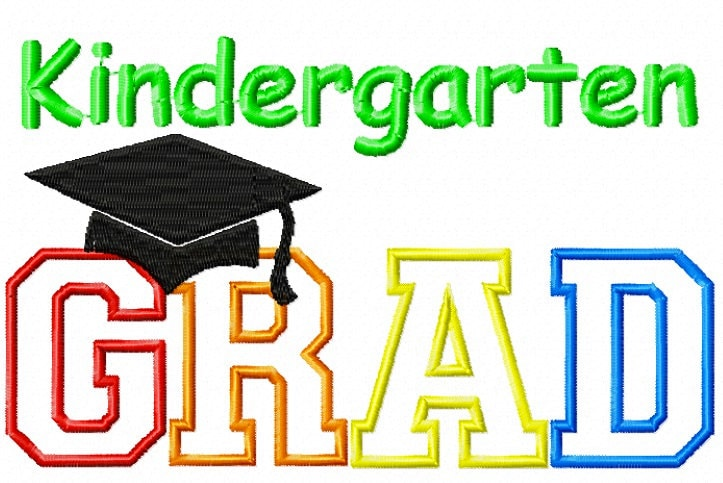 Embroidery design kindergarten grad applique for Embroidery office design version 9