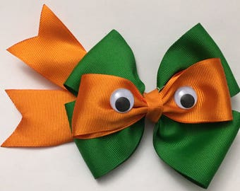 Ninja turtle hairbows