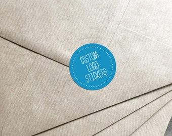 Custom Logo Stickers / Personalised Business Labels / Wedding Stickers