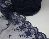 Navy Blue Lace - Exquisit...