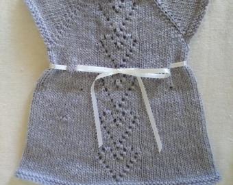 Knit baby dress Lavender newborn