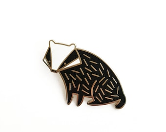 Badger Pin Hard Enamel Lapel Pin