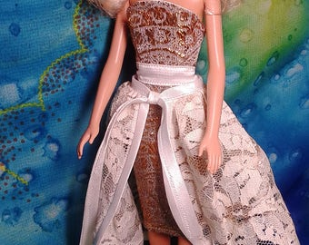 """Barbie Clothes. Barbie Doll Dress """"Gold"""". Doll outfit (1/6 Scale)."""