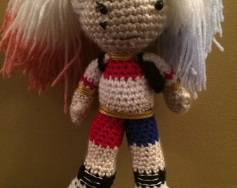 Ready to Ship Harley Quinn Suicide Squad Inspired Amigurumi Doll