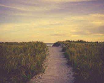 Beach Photograph - Beach Wall Art - Coastal Decor - Massachusetts - New England Art - Blue Wall Art - Ocean Photography - Ocean Art Print