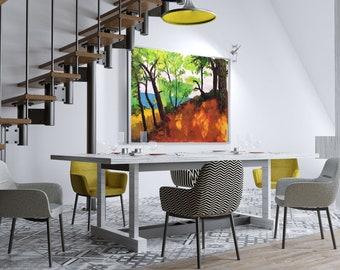"Mediterranean Forest – Original Oil Painting on Paper – 37,7""x26,7"" (96x68 cm)"