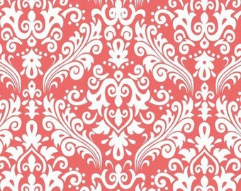 Riley Blake Designs Fabric BTY Coral Damask C830-54
