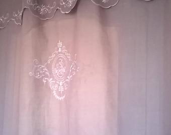 193R) large purple long curtain