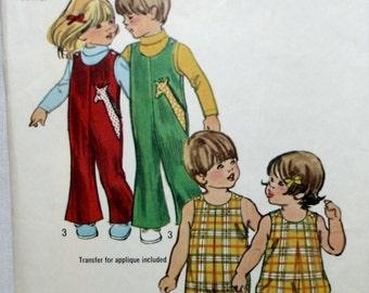 Simplicity 5049 Toddlers Vintage Jumpsuit and Bubblesuit Sewing Pattern New / Uncut Size 1/2