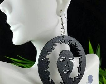 Zion (Lauryn Hill)- Handmade Wooden Earrings
