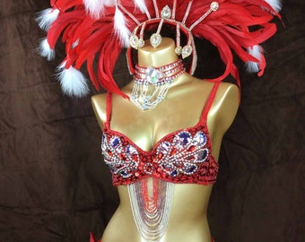 2016 hot selling Samba Rio Carnival Costume Feather Headdress , feathers costume  accept any size