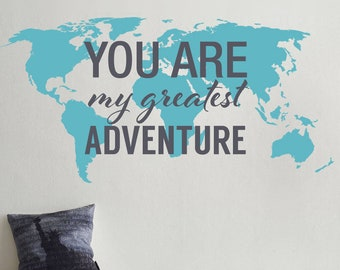Typography world map country names world map decal large greatest adventure nursery decor world map map decals world map decals gumiabroncs Images