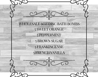 Wholesale 6oz Disc Bath Bombs