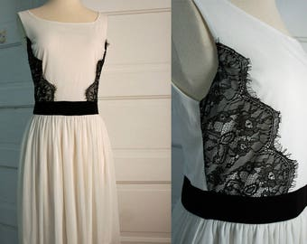 Black and White Party Dress Size M/L