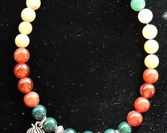Autumn Gem Charm Bracelet