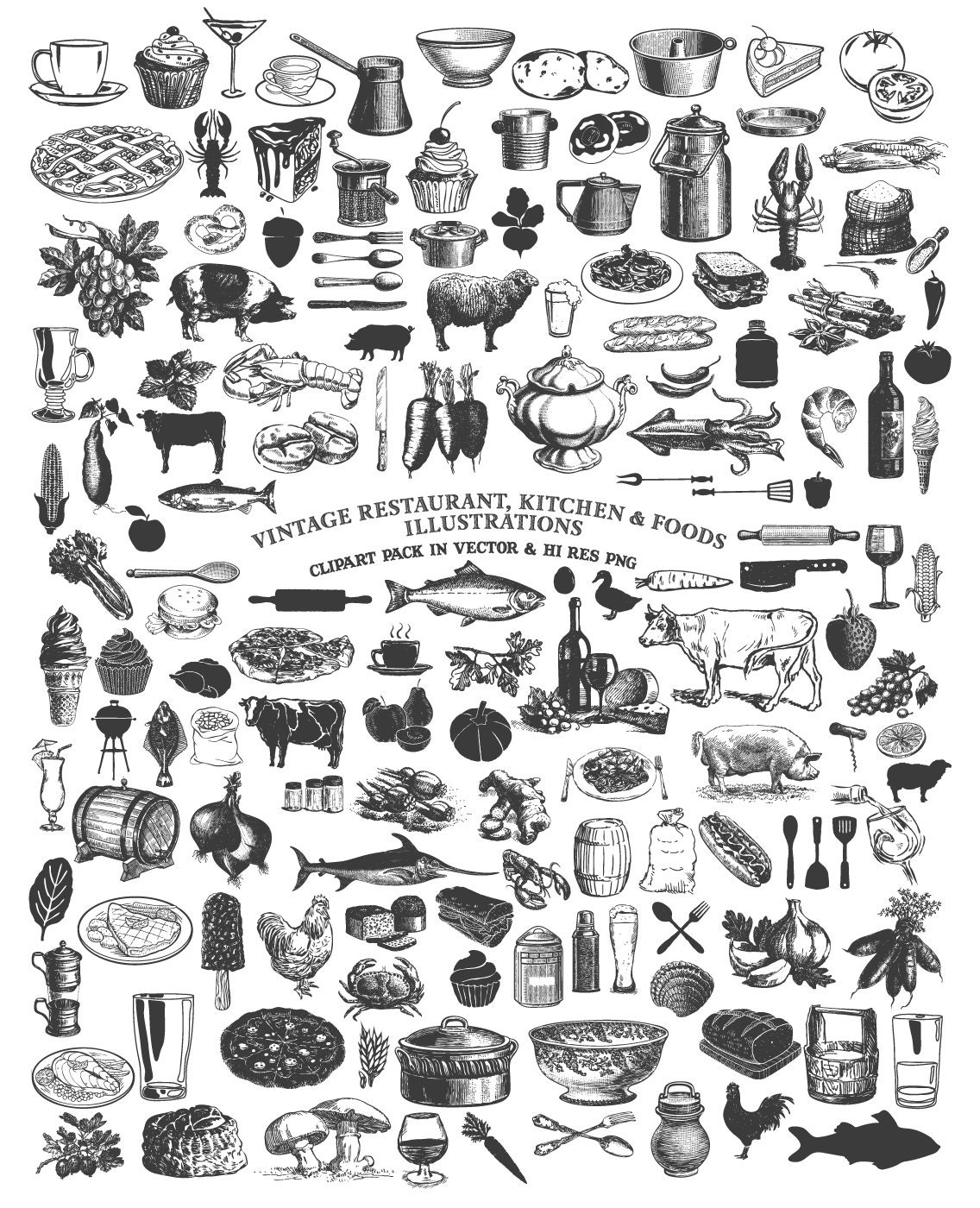 Cooking Clipart, Food Clipart, Kitchen Clipart, Farmers Market ...