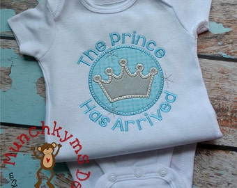The Prince Has Arrived Applique