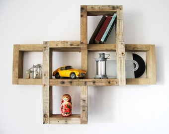 ROHAN Brutto Recycling-Paletten Holz Wand Regal