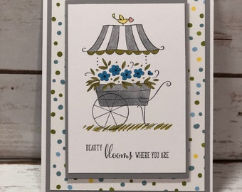 Beauty Blooms Where You Are, Friendship card, Thinking Of You Card, Encouragement card