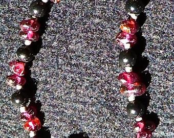 Garnet and Black Onyx Bracelet