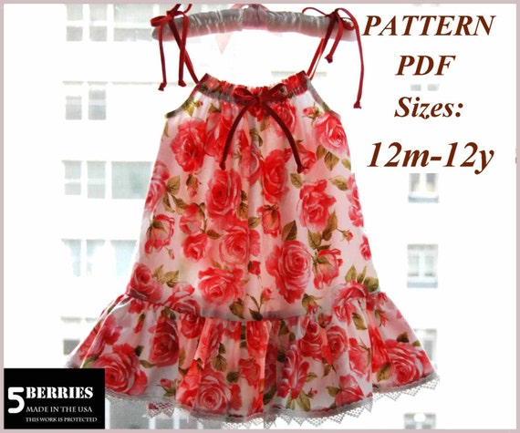 Pillowcase Dress Pattern Free Mother Daughter Apron Pattern