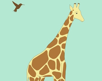 giraffe print, fine art print by kate durkin, nursery art