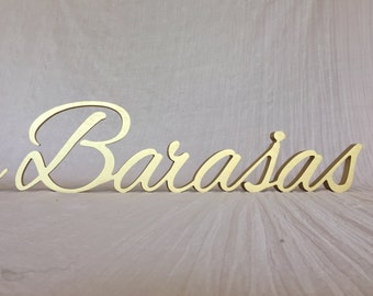 Last Name Sign, Personalized Wedding Gift, Wedding top table custom sign, New Home sign,Custom name sign, Family name sign