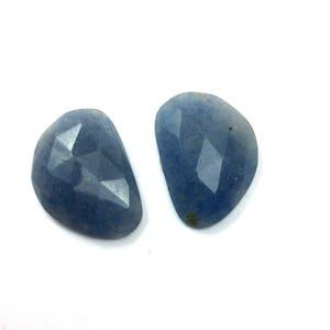Blue zade faceted gemstone 19x27mm