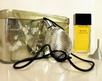 Vintage 1990s Sung by Alfred Sung 0.75 oz Eau de Toilette Splash and Perfume Pendant with Box Gift Set