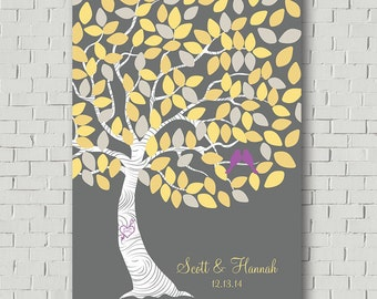 Wedding Guest Book Alternative Wedding Signs Wedding Tree, Guest Book Sign Wedding Canvas Wedding Poster, Custom Guest Book Tree Canvas