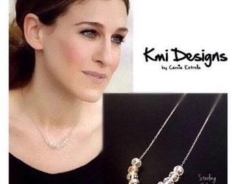 Dainty Necklaces, Diamond Necklace, Minimal Necklace, Diamond Pendant, Diamond Pendant Necklace, Raw Diamond Necklace, Bridal Necklace