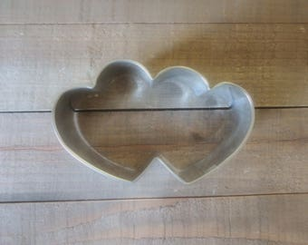 Heart Cookie Cutter , Valentines Day Cookie Cutters , Double Heart Cookie Cutter