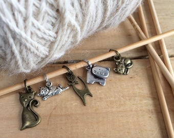 Cats Knitting Stitch Markers
