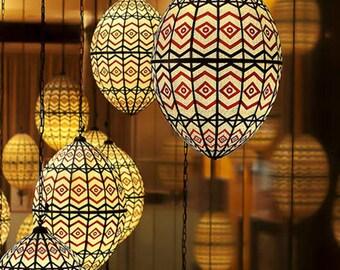 Moroccan Lanterns Photo Mediterranean home decor Chevron pattern celebrity gifting 8x10 Red Black Golden Wall art gift under 50 Valentine's