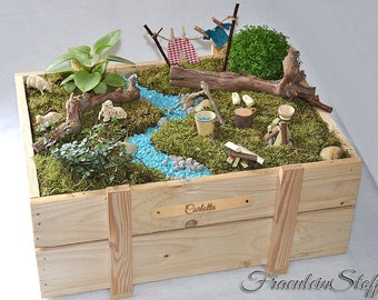 Mini Garden Fairy Garden Fairy garden miniature with or without plants/name tag, personalizable