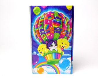 Vintage Lisa Frank Trifold Organizer - Ballon Buddies Casey Puppy Dogs Kitten Air Balloon Planner Organizer Calendar Diary Memo Pad Notes