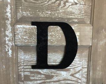 "9"" Decorative Black Velvet Wall Letters, Wedding Decoration, Girls Bedroom Decor"