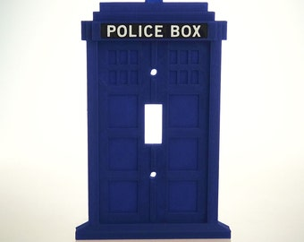 Dr. Who - Tardis - Light Switchplate Covers