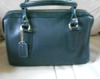 Coach Leather Black Speedy Bag