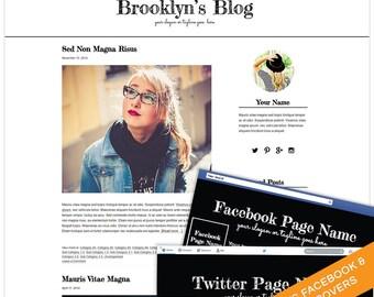 WordPress Blog Theme - Blog Template - Blog Design Branding Set - WordPress Theme  - Genesis Child Theme - Brooklyn