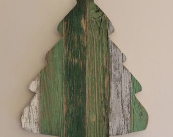 Rustic Barn Wood Wall Hanging Christmas Tree