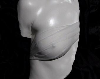 Sarah Scotchman - Roman Bust - Plaster Life Cast with a Satin Finish & Drapes