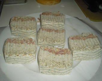 Oatmeal Honey Goats Milk Organic BIG Bar Soap